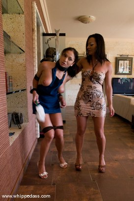 Photo number 4 from Punished Maid shot for Whipped Ass on Kink.com. Featuring Sandra Romain and Lea Lexis in hardcore BDSM & Fetish porn.
