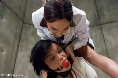 Photo number 10 from Sunnydale Detention Facility shot for Wired Pussy on Kink.com. Featuring Amber Rayne and Devi Emerson in hardcore BDSM & Fetish porn.