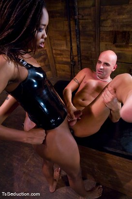 Photo number 14 from Nyobi Khan in Latex shot for TS Seduction on Kink.com. Featuring Nyobi Khan and Diezel in hardcore BDSM & Fetish porn.