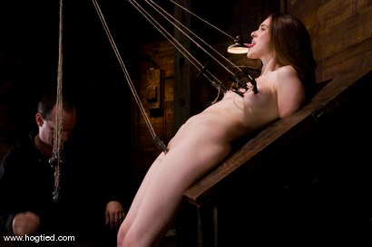 Photo number 11 from Isobel Wren makes her first<br>Hogtied appearance shot for Hogtied on Kink.com. Featuring Isobel Wren and Lochai in hardcore BDSM & Fetish porn.