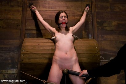 Photo number 6 from Isobel Wren makes her first<br>Hogtied appearance shot for Hogtied on Kink.com. Featuring Isobel Wren and Lochai in hardcore BDSM & Fetish porn.