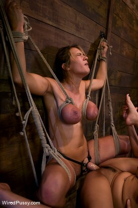 Photo number 10 from Trina Michaels gets her huge tits tied and wired! shot for Wired Pussy on Kink.com. Featuring Trina Michaels and Annie Cruz in hardcore BDSM & Fetish porn.