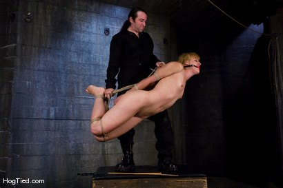Photo number 14 from Dylan, new to Hogtied <br> but not to squirting orgasms shot for Hogtied on Kink.com. Featuring Dylan Ryan and Damon Pierce in hardcore BDSM & Fetish porn.