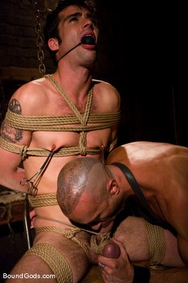 Photo number 5 from The Butcher and His Fresh Meat shot for Bound Gods on Kink.com. Featuring Brodie Newport and Jason Crew in hardcore BDSM & Fetish porn.