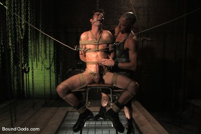 Photo number 6 from The Butcher and His Fresh Meat shot for Bound Gods on Kink.com. Featuring Brodie Newport and Jason Crew in hardcore BDSM & Fetish porn.