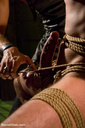 Photo number 7 from The Butcher and His Fresh Meat shot for Bound Gods on Kink.com. Featuring Brodie Newport and Jason Crew in hardcore BDSM & Fetish porn.