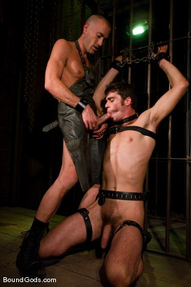 Photo number 9 from The Butcher and His Fresh Meat shot for Bound Gods on Kink.com. Featuring Brodie Newport and Jason Crew in hardcore BDSM & Fetish porn.