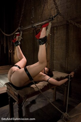 Photo number 11 from Satine Phoenix shot for Sex And Submission on Kink.com. Featuring Mark Davis and Satine Phoenix in hardcore BDSM & Fetish porn.