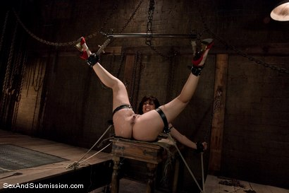 Photo number 14 from Satine Phoenix shot for Sex And Submission on Kink.com. Featuring Mark Davis and Satine Phoenix in hardcore BDSM & Fetish porn.