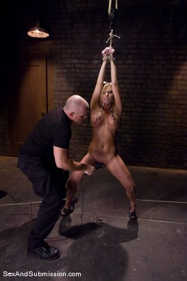Photo number 5 from Ahryan Astyn's First Time shot for Sex And Submission on Kink.com. Featuring Mark Davis and Ahryan Astyn in hardcore BDSM & Fetish porn.