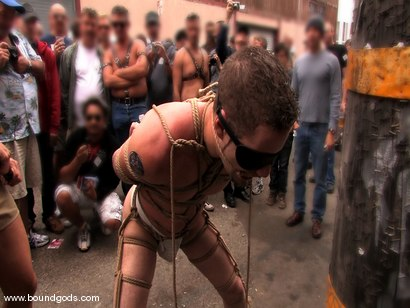 Photo number 12 from Bonus Update: Van, Wolf and Rico at the 2008 Up Your Alley Fair shot for Bound Gods on Kink.com. Featuring Wolf Hudson, Van Darkholme and Rico in hardcore BDSM & Fetish porn.