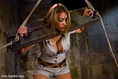 Photo number 2 from Welcome back California girl Trina Michaels<br>with her beautiful tan and huge breasts. shot for Hogtied on Kink.com. Featuring Trina Michaels and Damon Pierce in hardcore BDSM & Fetish porn.