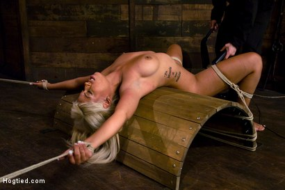 Photo number 13 from Welcome the amazing beautiful<br> Bridgette B to her first Hogtied shoot. shot for Hogtied on Kink.com. Featuring Bridgette B and Damon Pierce in hardcore BDSM & Fetish porn.