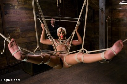 Photo number 10 from Welcome the amazing beautiful<br> Bridgette B to her first Hogtied shoot. shot for Hogtied on Kink.com. Featuring Bridgette B and Damon Pierce in hardcore BDSM & Fetish porn.