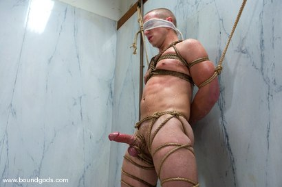 Photo number 10 from The Gym Stud shot for Bound Gods on Kink.com. Featuring Christian Owen and Wolf Hudson in hardcore BDSM & Fetish porn.