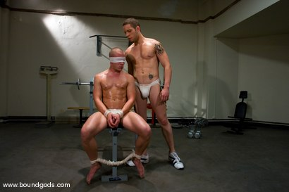 Photo number 1 from The Gym Stud shot for Bound Gods on Kink.com. Featuring Christian Owen and Wolf Hudson in hardcore BDSM & Fetish porn.