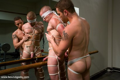 Photo number 5 from The Gym Stud shot for Bound Gods on Kink.com. Featuring Christian Owen and Wolf Hudson in hardcore BDSM & Fetish porn.
