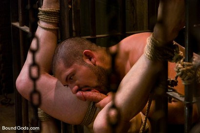 Photo number 12 from Hard Discipline shot for Bound Gods on Kink.com. Featuring Alessandro Del Toro, Rico and Van Darkholme in hardcore BDSM & Fetish porn.