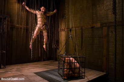 Photo number 1 from Hard Discipline shot for Bound Gods on Kink.com. Featuring Alessandro Del Toro, Rico and Van Darkholme in hardcore BDSM & Fetish porn.