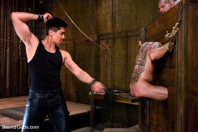 Photo number 6 from Hard Discipline shot for Bound Gods on Kink.com. Featuring Alessandro Del Toro, Rico and Van Darkholme in hardcore BDSM & Fetish porn.