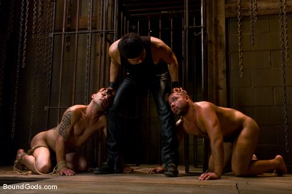 Photo number 14 from Hard Discipline shot for Bound Gods on Kink.com. Featuring Alessandro Del Toro, Rico and Van Darkholme in hardcore BDSM & Fetish porn.