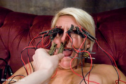 Photo number 11 from Tough and Sexy Vendetta Subs to Electrosex! shot for Wired Pussy on Kink.com. Featuring Claire Adams and Vendetta in hardcore BDSM & Fetish porn.