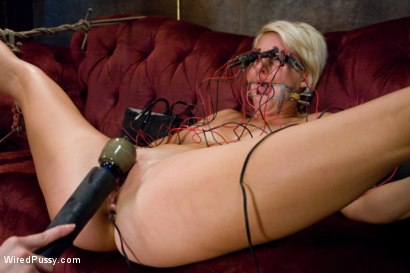 Photo number 21 from Tough and Sexy Vendetta Subs to Electrosex! shot for Wired Pussy on Kink.com. Featuring Claire Adams and Vendetta in hardcore BDSM & Fetish porn.