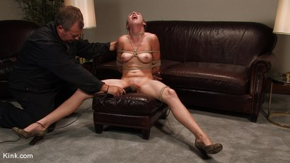 Photo number 14 from Casting Couch 3<br />Former stripper finally gets her bondage wish! shot for Hogtied on Kink.com. Featuring Sasha Lexing in hardcore BDSM & Fetish porn.