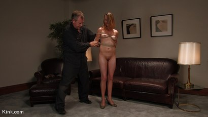 Photo number 9 from Casting Couch 3<br />Former stripper finally gets her bondage wish! shot for Hogtied on Kink.com. Featuring Sasha Lexing in hardcore BDSM & Fetish porn.