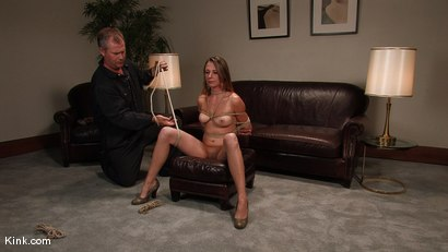 Photo number 10 from Casting Couch 3<br />Former stripper finally gets her bondage wish! shot for Hogtied on Kink.com. Featuring Sasha Lexing in hardcore BDSM & Fetish porn.
