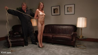 Photo number 5 from Casting Couch 3<br />Former stripper finally gets her bondage wish! shot for Hogtied on Kink.com. Featuring Sasha Lexing in hardcore BDSM & Fetish porn.