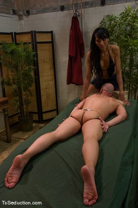 Photo number 3 from Full service spa shot for TS Seduction on Kink.com. Featuring Yasmin Lee and Chad Rock in hardcore BDSM & Fetish porn.