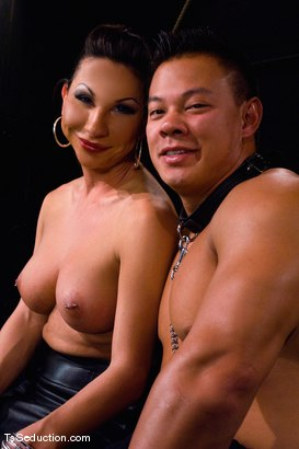Photo number 15 from The New Pet shot for TS Seduction on Kink.com. Featuring Ariel Everitts and Aaron Lee in hardcore BDSM & Fetish porn.