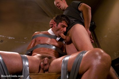 Photo number 4 from Predator vs. Predator shot for Bound Gods on Kink.com. Featuring Rod Barry and Luka in hardcore BDSM & Fetish porn.