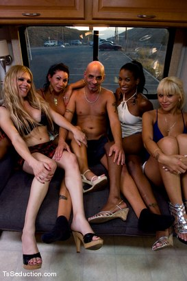 Photo number 11 from Interviews, Behind the Scenes & Bloopers shot for TS Seduction on Kink.com. Featuring Jessica Host, Jesse, Devin, Natassia Dreams, Diezel, Ariel Everitts, Lobo, Omar and Whisky Julio in hardcore BDSM & Fetish porn.