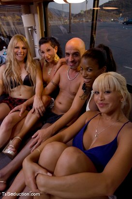 Photo number 10 from Interviews, Behind the Scenes & Bloopers shot for TS Seduction on Kink.com. Featuring Jessica Host, Jesse, Devin, Natassia Dreams, Diezel, Ariel Everitts, Lobo, Omar and Whisky Julio in hardcore BDSM & Fetish porn.