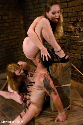 Photo number 6 from The Sadist's Apprentice shot for Men In Pain on Kink.com. Featuring Rico, Madison Young and Aiden Starr in hardcore BDSM & Fetish porn.