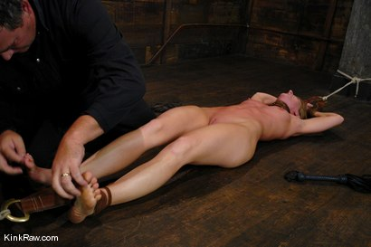 Photo number 2 from Whip or Tickle 1<br />A severe flogging and tickling shoot! shot for Kink Raw Test Shoots on Kink.com. Featuring Ariel X in hardcore BDSM & Fetish porn.