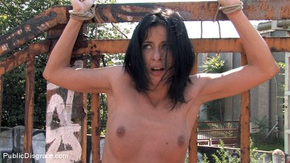 Photo number 13 from Cecilia Vega fucked in Public!! shot for Public Disgrace on Kink.com. Featuring Cecilia Vega in hardcore BDSM & Fetish porn.