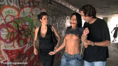Photo number 6 from Cecilia Vega fucked in Public!! shot for Public Disgrace on Kink.com. Featuring Cecilia Vega in hardcore BDSM & Fetish porn.