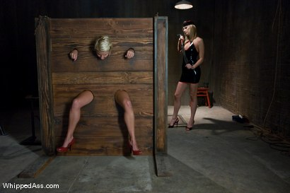 Photo number 2 from A CLASSIC FAVORITE: Vendetta in the Wall!!! <br> Maitresse Madeline's  shot for Whipped Ass on Kink.com. Featuring Maitresse Madeline Marlowe  and Vendetta in hardcore BDSM & Fetish porn.