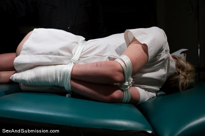 Photo number 4 from Nurse Sin shot for Sex And Submission on Kink.com. Featuring Mark Davis and Samantha Sin in hardcore BDSM & Fetish porn.