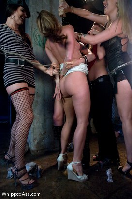Photo number 4 from Gang Initiation shot for Whipped Ass on Kink.com. Featuring Harmony, Lorelei Lee, Bobbi Starr, Hollie Stevens and Ariel X in hardcore BDSM & Fetish porn.