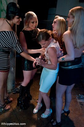 Photo number 3 from Gang Initiation shot for Whipped Ass on Kink.com. Featuring Harmony, Lorelei Lee, Bobbi Starr, Hollie Stevens and Ariel X in hardcore BDSM & Fetish porn.