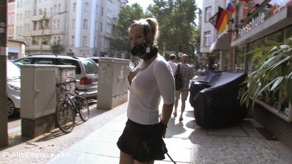 Photo number 13 from Hot German Blonde gets fucked in public shot for Public Disgrace on Kink.com. Featuring Steffanie van Eckten in hardcore BDSM & Fetish porn.