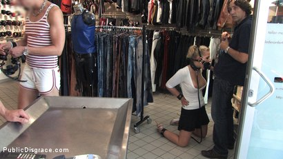 Photo number 5 from Hot German Blonde gets fucked in public shot for Public Disgrace on Kink.com. Featuring Steffanie van Eckten in hardcore BDSM & Fetish porn.