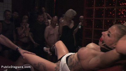 Photo number 8 from Hot German Blonde gets fucked in public shot for Public Disgrace on Kink.com. Featuring Steffanie van Eckten in hardcore BDSM & Fetish porn.