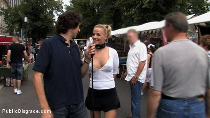 Photo number 2 from Hot German Blonde gets fucked in public shot for Public Disgrace on Kink.com. Featuring Steffanie van Eckten in hardcore BDSM & Fetish porn.