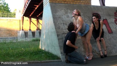 Photo number 8 from Hot MILF with huge tits and ass!!! shot for Public Disgrace on Kink.com. Featuring Jagdelfe in hardcore BDSM & Fetish porn.