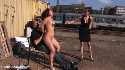Photo number 10 from Olga shot for Public Disgrace on Kink.com. Featuring Olga Cabaeva in hardcore BDSM & Fetish porn.